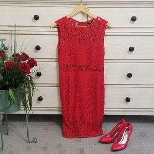 Lace Red Dress ll XOXO